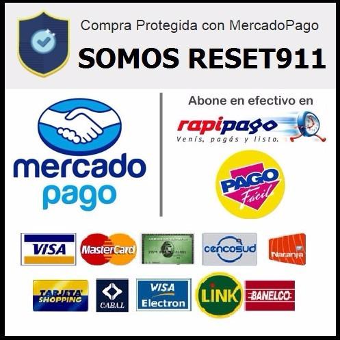 reset epson l120 desbloqueo almohadillas envio gratis