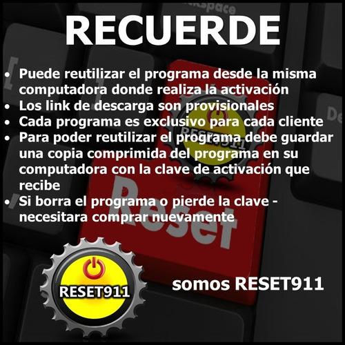 reset epson l220 l365 l575 l455 l120 ilimitado 1pc reset911