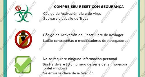 reset epson modelos xp -100% libre de vírus - ilimitado
