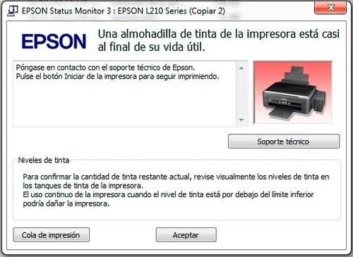reset para almohadillas desbloqueador epson l355 ilimitado