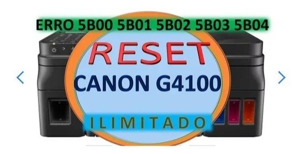 Reset Para Canon G4100 Erro 5b00 5bo2 100%funcional V5 103