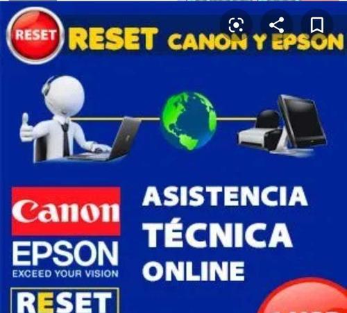 reset para final de vida útil de almohadillas epson canon