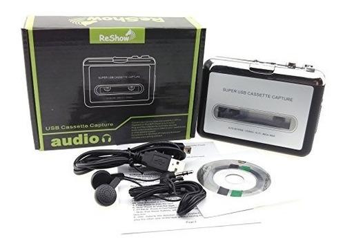 reshow cassette player - reproductor de cinta portátil captu