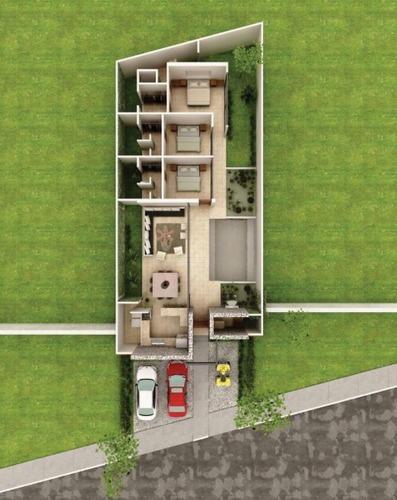 residencia con alberca ecológica en privada zelena
