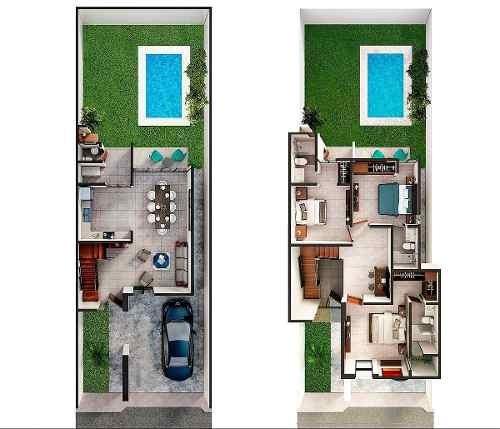 residencia de 3 habitaciones con gran diseño en leandro valle.