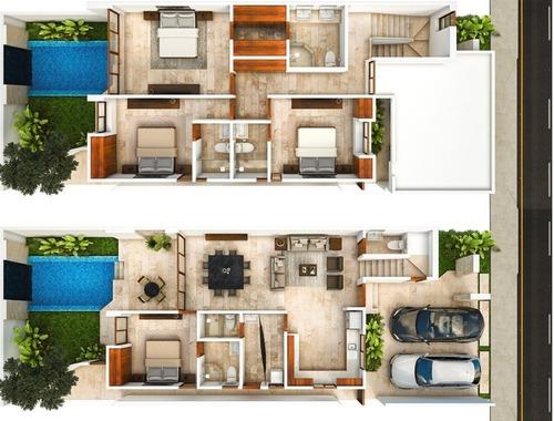 residencial amara, casa en venta al norte de mérida.