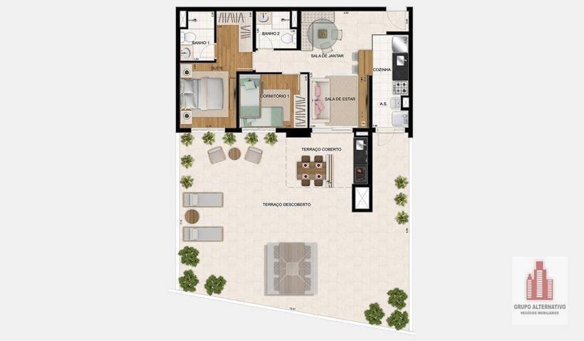 residencial botânica ezetec - ap0828