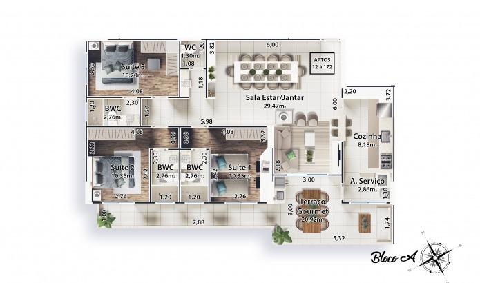 residencial italía a venda em praia grande boqueirão ref-592