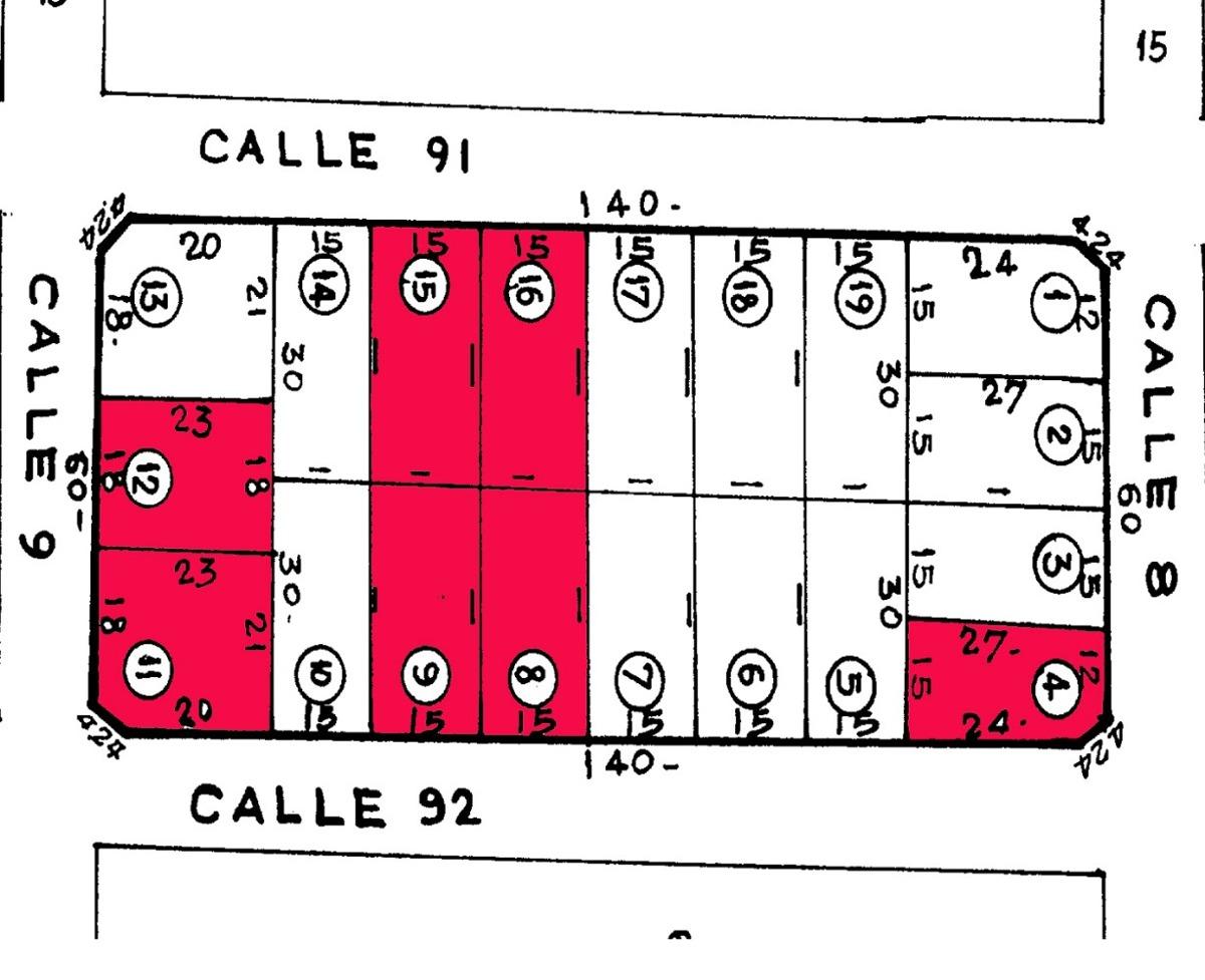 residencial  mar del tuyu. 9 y 92. esquina y antesquina