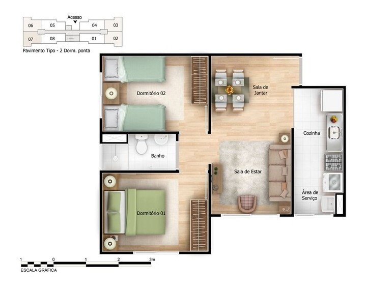 residencial onix - 2 dorms - butantã divisa c/ osasco