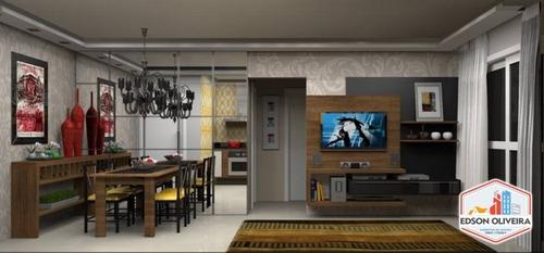 residencial parque camburi - apartamentos de 57 m² em santos - ap-026
