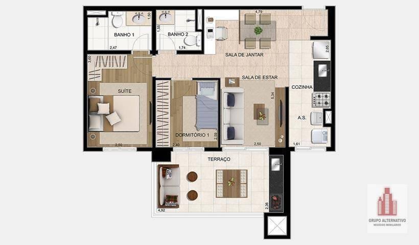 residencial parque ventura ezetec - ap0826