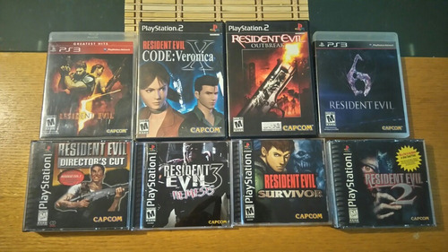 resident evil 1 2 3 5 6 veronica outbreak ps1 ps2 ps3 lote