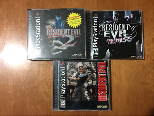 resident evil 1 2 3 nemesis ps1 ps2 ps3 lote playstation