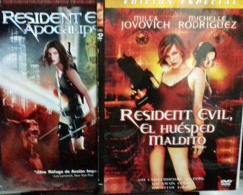 resident evil 1 & 2 / el huesped maldito y apocalipsis/ dvd