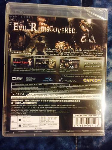 resident evil 1 biohazard 1 playstation 3 ps3 sellado
