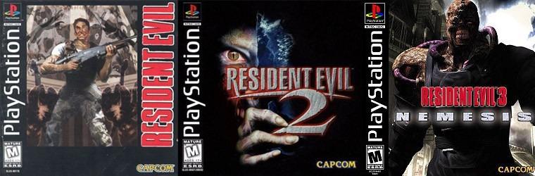 Resultado de imagem para resident evil 1, 2, 3