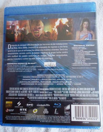 resident evil 2 dos apocalipsis pelicula en blu-ray