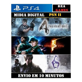 Resident Evil 4 , 5 , 6 Ps4  2  Digital Original