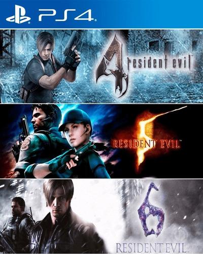 resident evil 4 5 6  ps4 juego digital español secundario