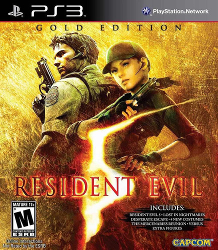 resident evil 5 gold edition extras ps3 mídia física