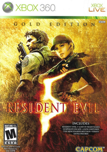 resident evil 5 - gold edition para xbox 360