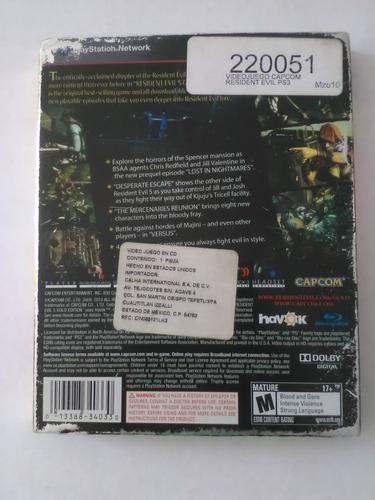 resident evil 5 gold edition ps3 garantizado