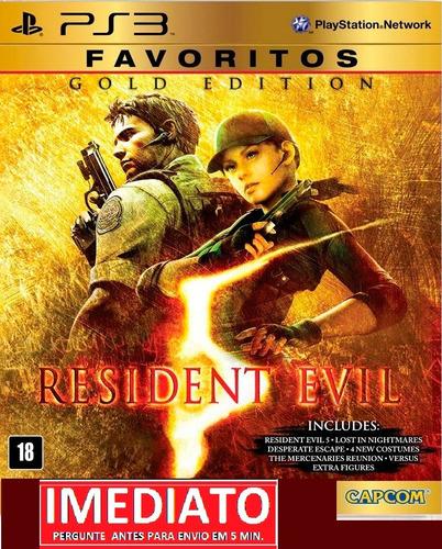 resident evil 5 gold edition ps3 psn - midia digital