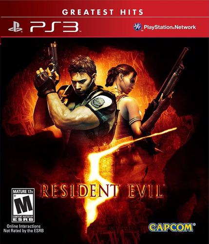 resident evil 5 juego en disco físico play station 3