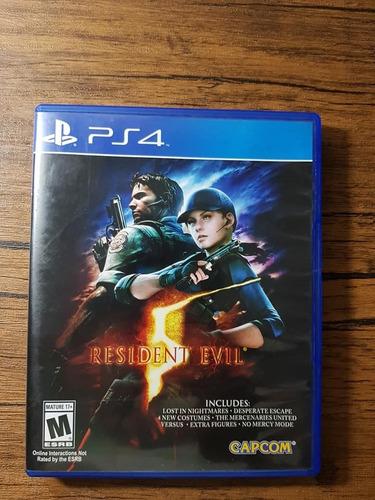resident evil 5 playstation 4 ps4 excelente estado !!