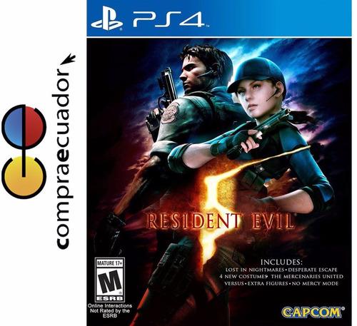 resident evil 5 ps4 juego disco físico original ps4