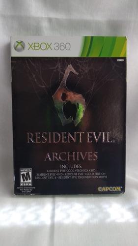 resident evil 6 archives - nuevo y sellado - xbox 360