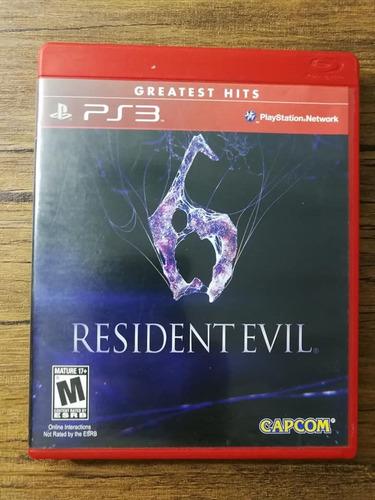 resident evil 6 español playstation 3 ps3 buen estado !!