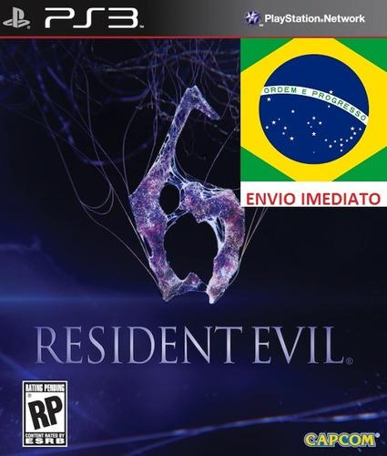 resident evil 6 portugues ps3 psn midia digital