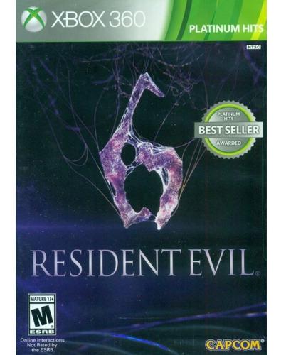 resident evil 6 xbox 360 platinum hits nuevo