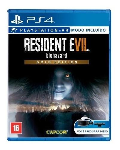 resident evil 7 gold edition - ps4 - mídia física - nv