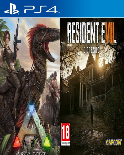 resident evil 7 ps4 + ark survival evolved ps4 udo