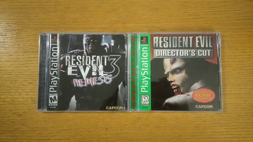 resident evil director cut nemesis 1 3 ps1 lote playstation