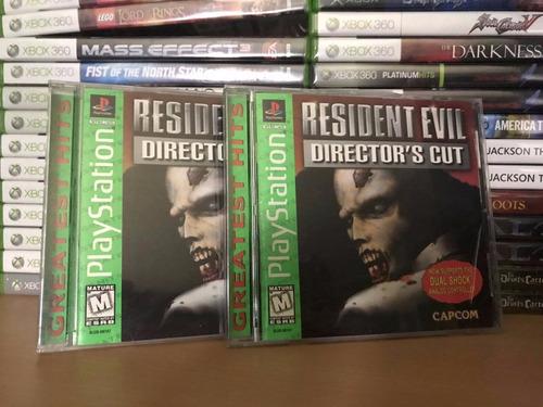 resident evil: director's cut - excelente estado - ps1