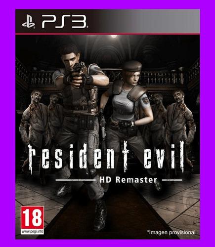 resident evil hd remaster remastered codigo psn ps3 original