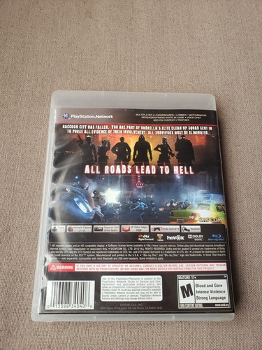 resident evil operation raccoon city para ps3 playstation 3
