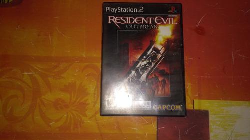 resident evil outbreak play station 2