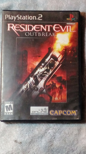 resident evil outbreak playstation 2 original con manuales