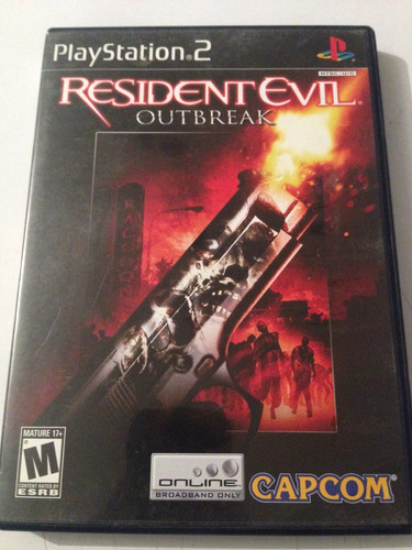 resident evil outbreak ps2 excelente estado