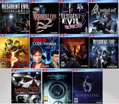 resident evil pacote com 11 jogos!! ps3