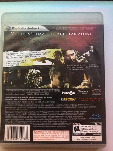 resident evil videojuego ps3