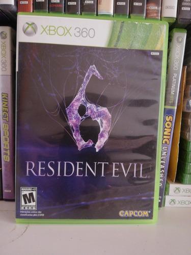 residente evil 6 xbox 360 usado