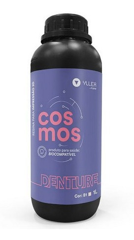 resina 3d  - rosa - biocompatível para dentaduras - dlp 1l