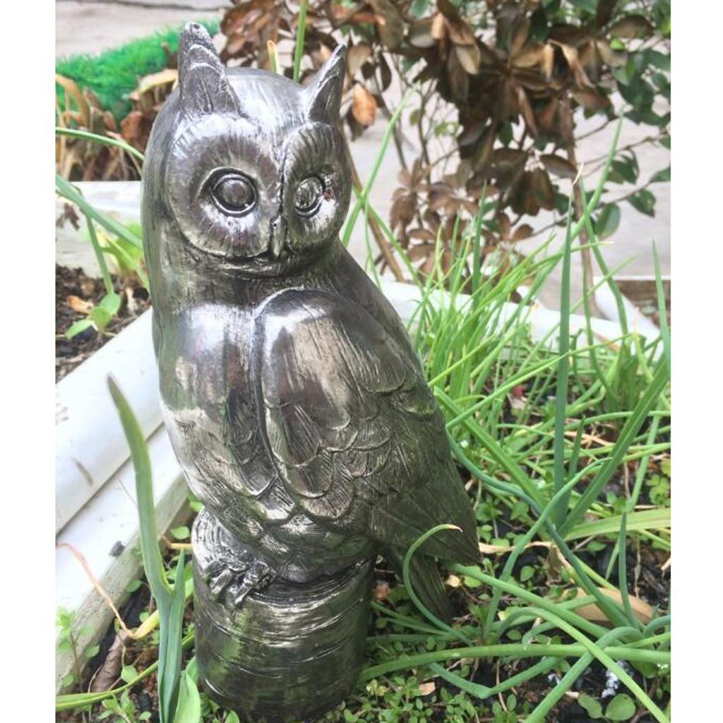 Resina Arte Jardin Escultura Buho Estatua Casa Cesped Ado 52704 - Escultura-jardin