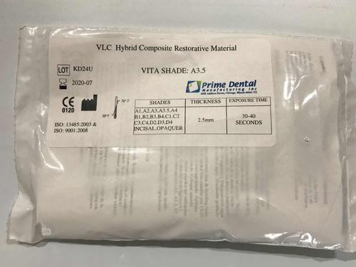 resina compuesto restaurativo prime dental a3.5 odontológica